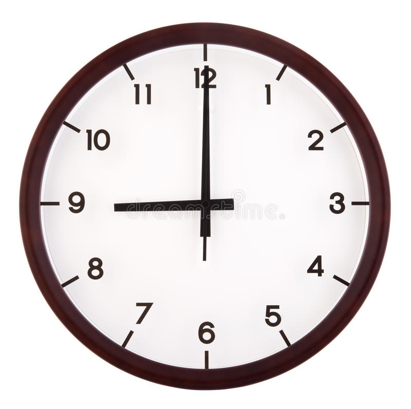 Download Analog clock stock image. Image of hour, number, background - 27653261