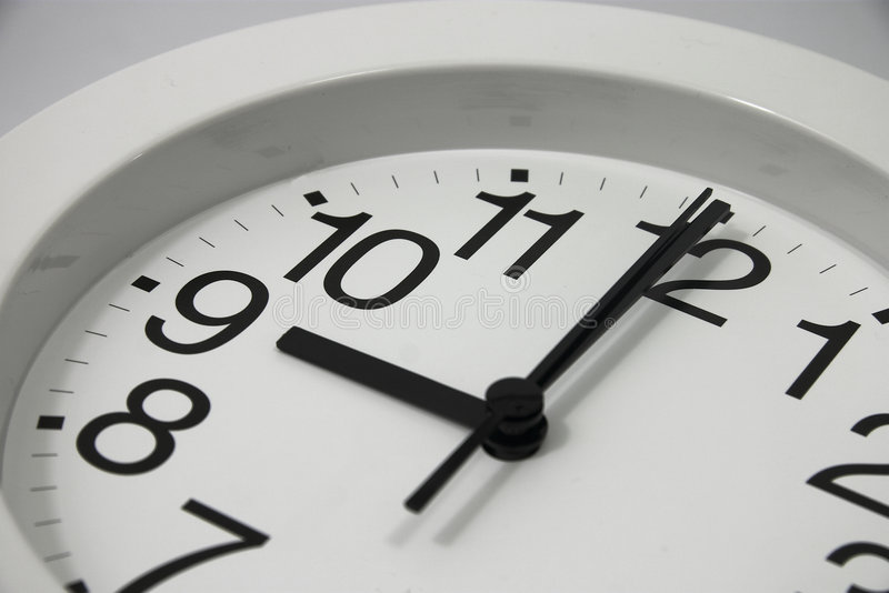 Download Analog Clock at 9 o'clock stock image. Image of obsolete - 254095