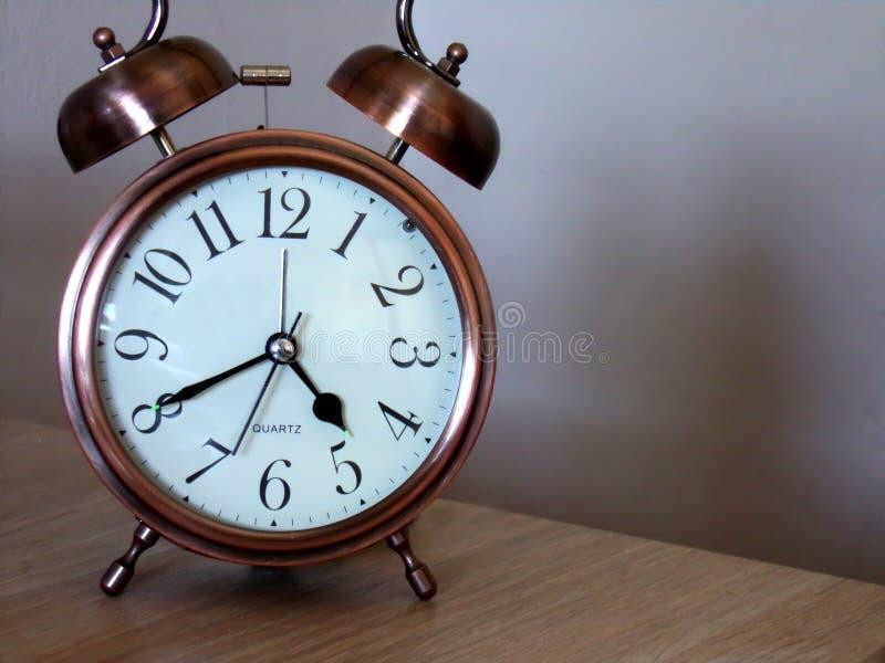 Analog clock with alarm clock stock photos