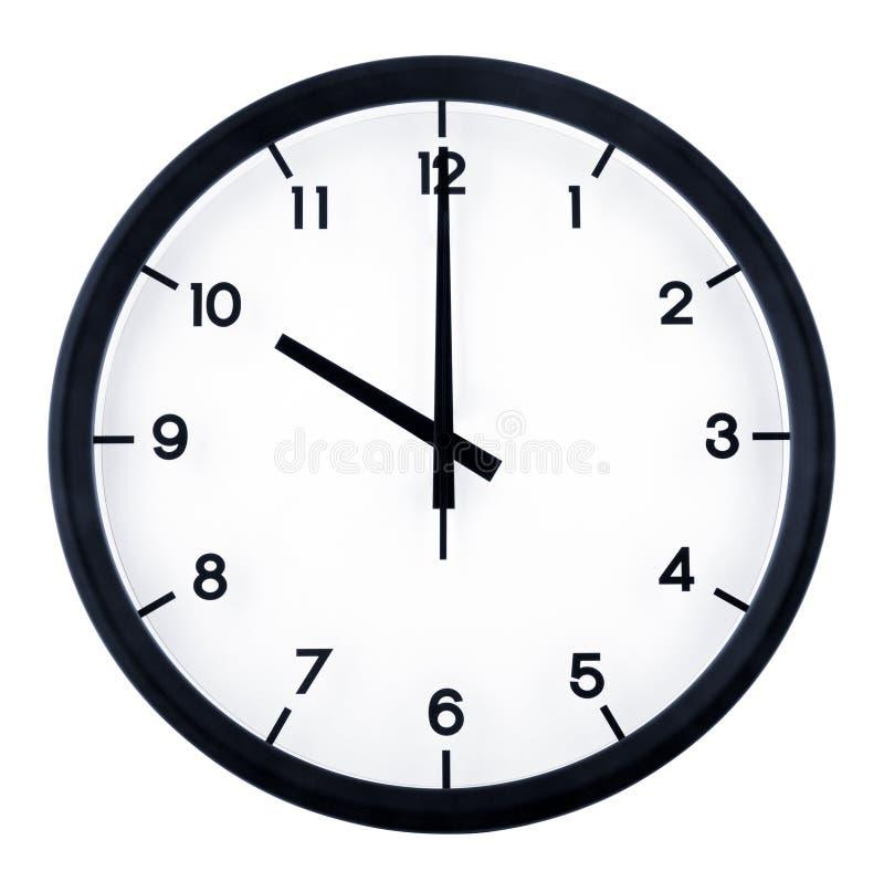 Analog clock. Classic analog clock pointing at 10 o`clock, isolated on white background stock photos
