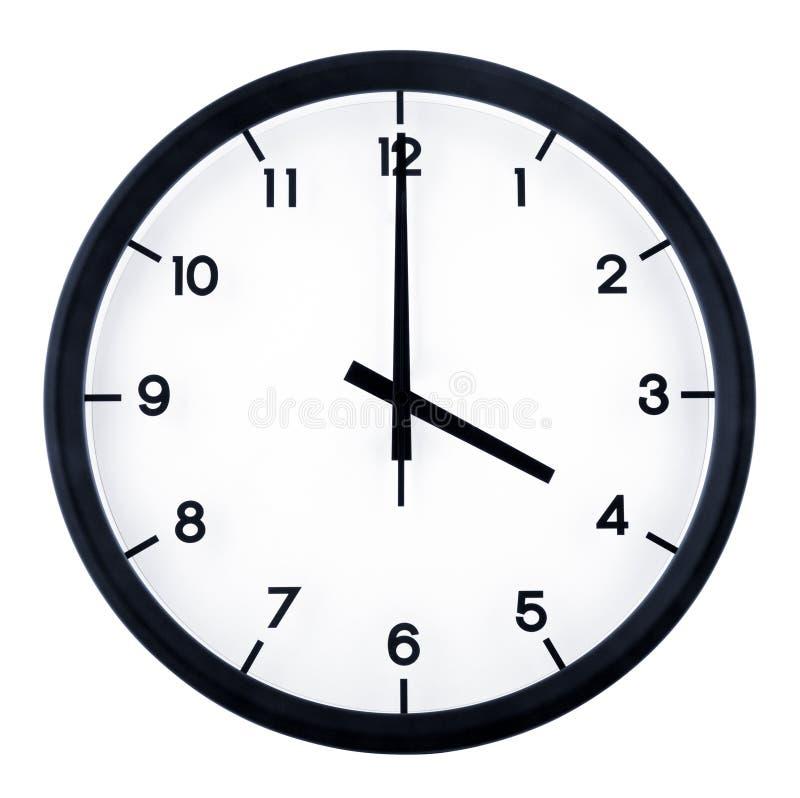 Analog clock. Classic analog clock pointing at 4 o`clock, isolated on white background stock image