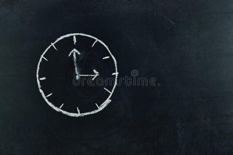 Analog Clock Sketch in Black Surface royalty free stock photos
