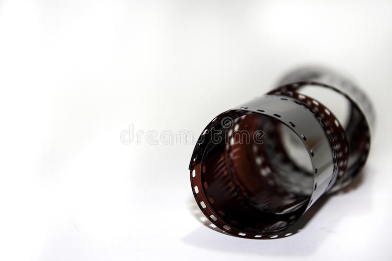 Analog film on the white background.  stock images