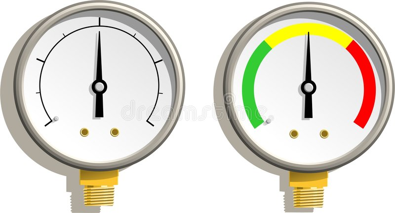 Download Analog Gauges stock vector. Illustration of refrigeration - 3296999