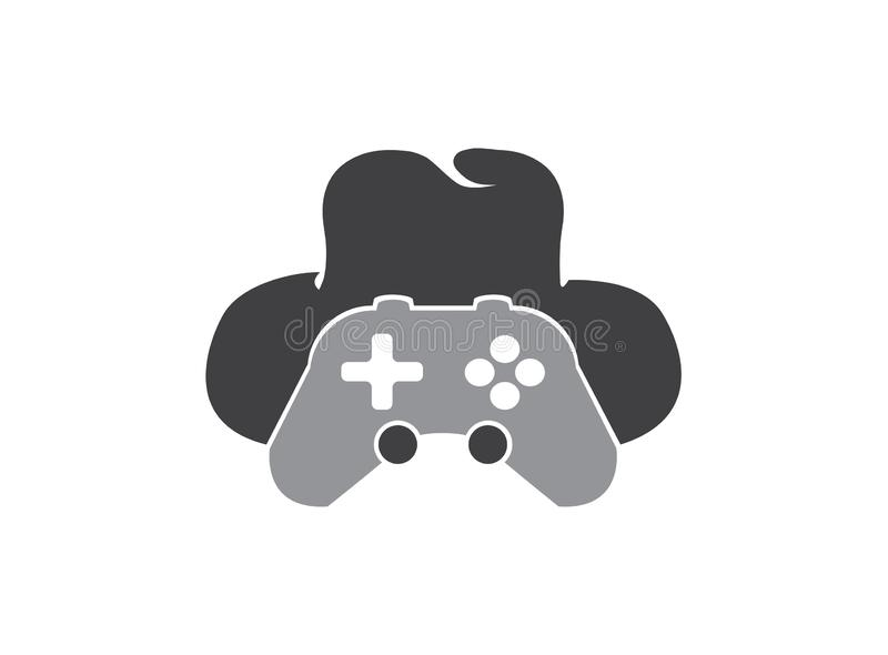 Analog and hat gamer console spy symbol vector logo design illustration on white background stock photo