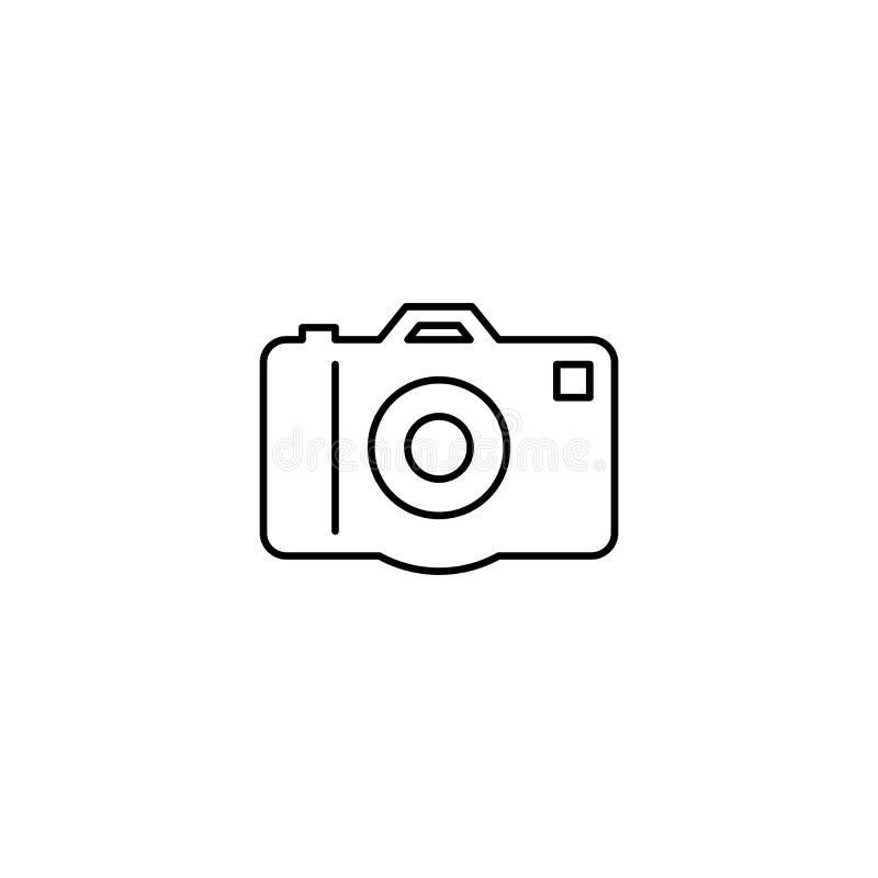 Analog kamery konturu ikona royalty ilustracja