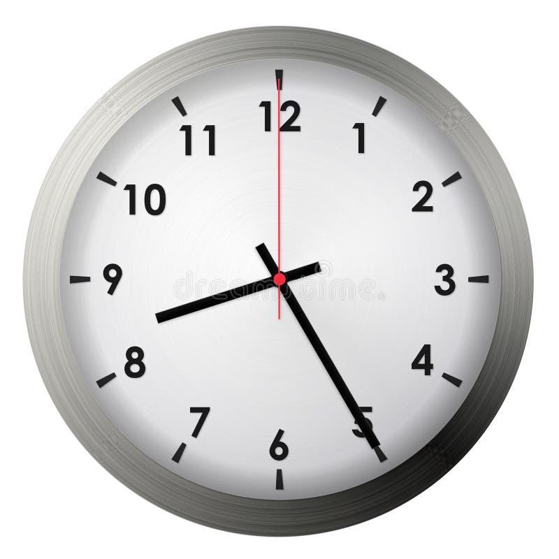 Analog metal wall clock stock photography
