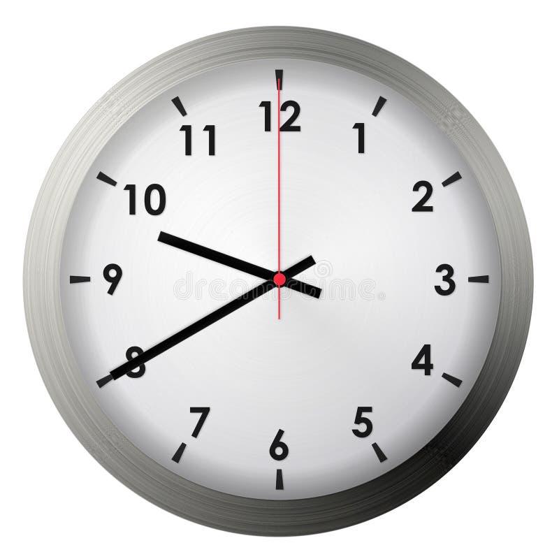 Analog metal wall clock stock image