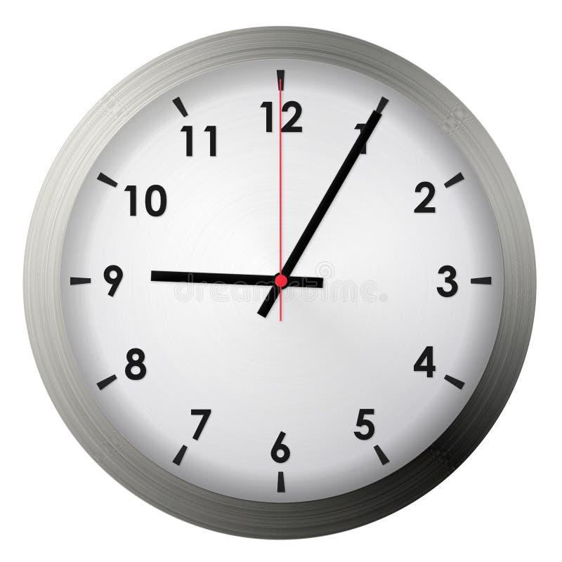 Analog metal wall clock stock photos