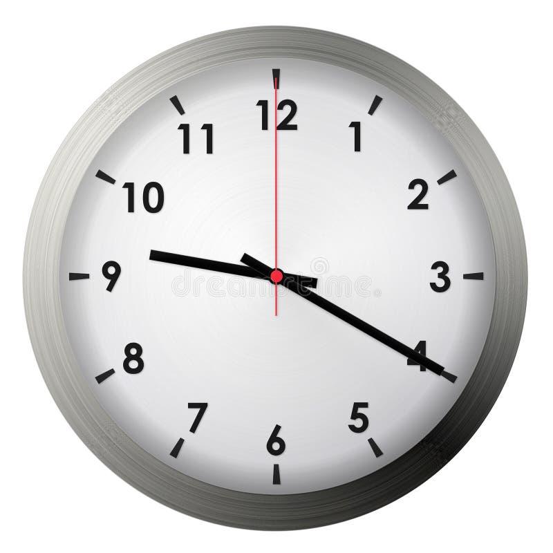 Analog metal wall clock royalty free stock photography
