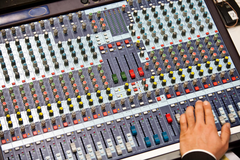 Analog mixing console. Good analog mixing consoles are rare these days royalty free stock images