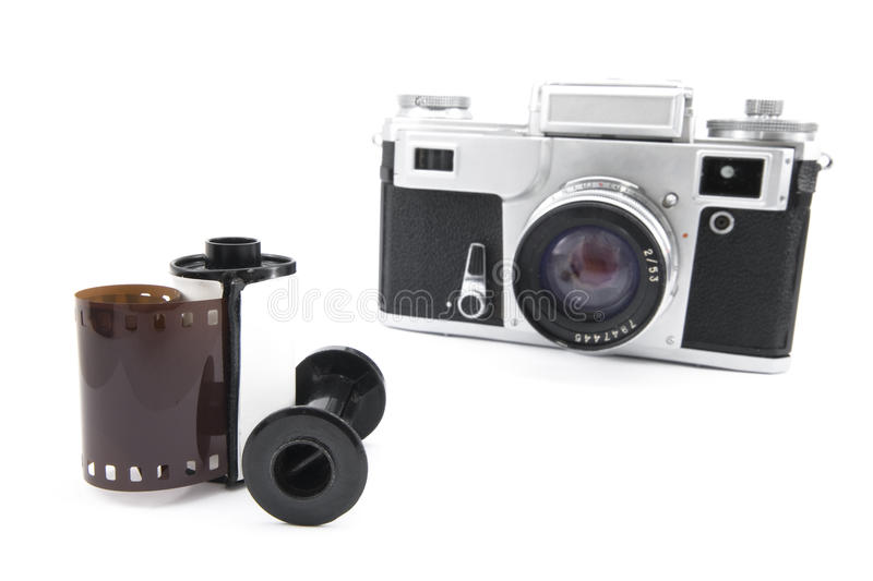 Download Analog Rangefinder Camera With 35mm Film Stock Photo - Image of film, expensive: 17784370