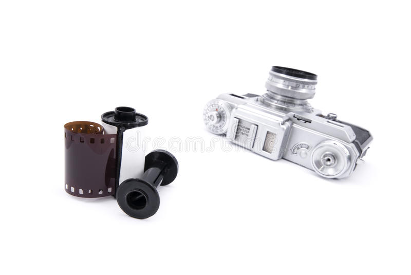 Download Analog Rangefinder Camera With 35mm Film Stock Photo - Image: 17784392