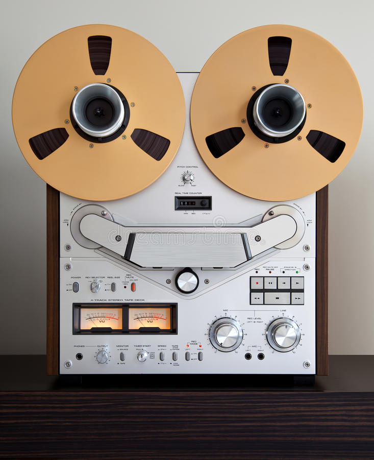 Download Analog Stereo Open Reel Tape Deck Recorder Stock Photo - Image: 23472664