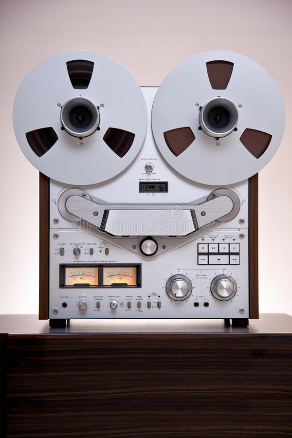 Download Analog Stereo Open Reel Tape Deck Recorder Stock Image - Image: 23472863
