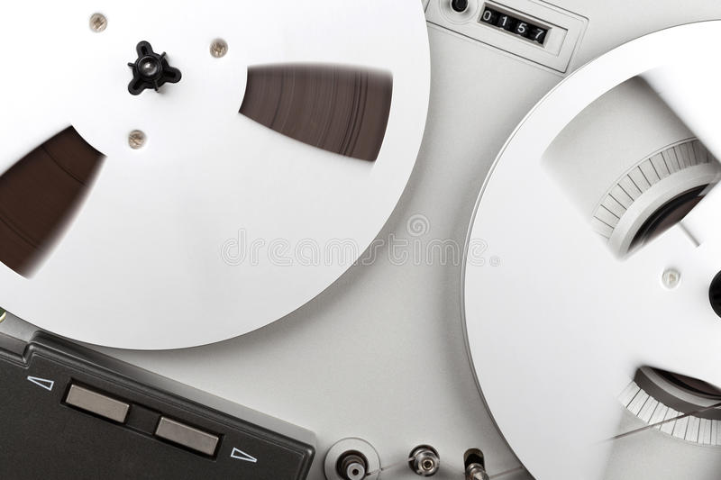 Analog Stereo Reel Recorder Player. Analog Stereo Reel Tape Deck Recorder Player royalty free stock images