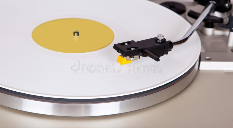 Analog Stereo Turntable Vinyl Blue Record Player Headshell Cartr. Idge royalty free stock photography