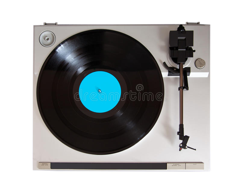 Analog Stereo Turntable Vinyl Record Player. Top royalty free stock photos