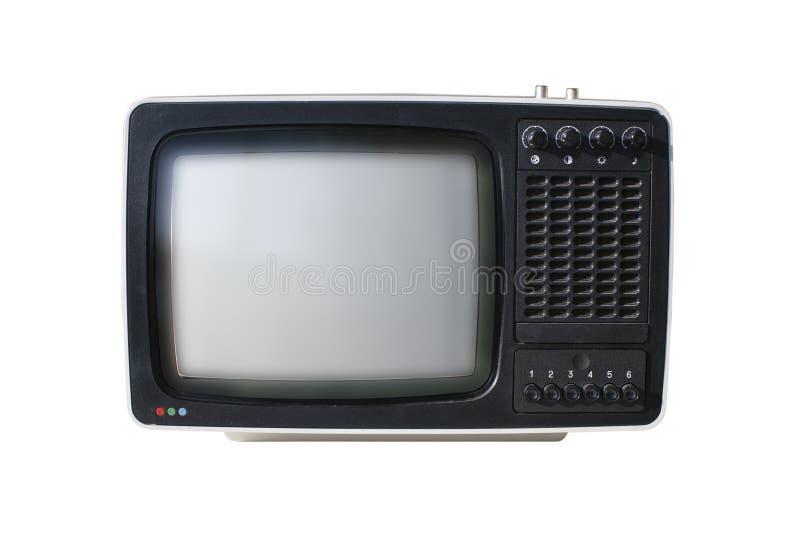 Analog TV. Old analog TV set isolated royalty free stock photo