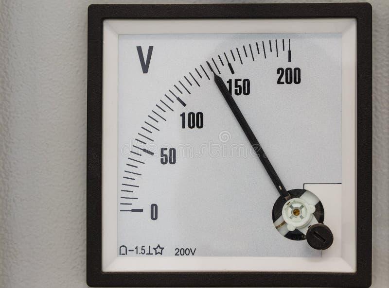 Analog volt meter. For measurement stock photos