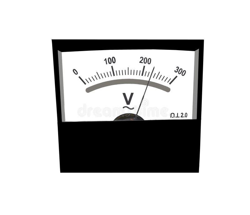 Analog Meter Background : Analog voltmeter stock image of gauge