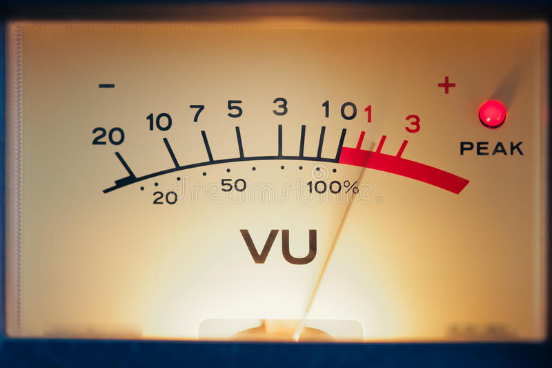 Download Analog volume meter stock image. Image of motion, music - 26133595