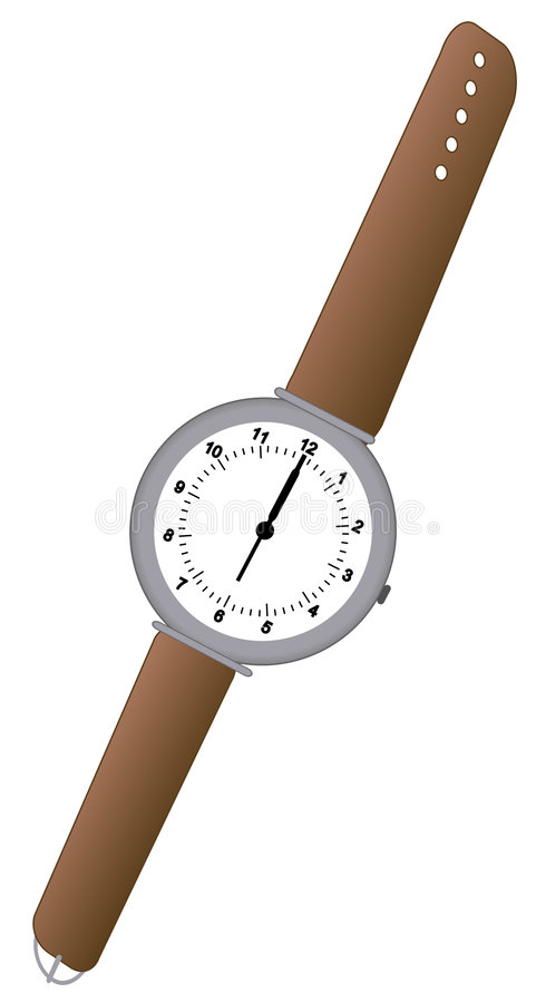 Analog watch stock illustration