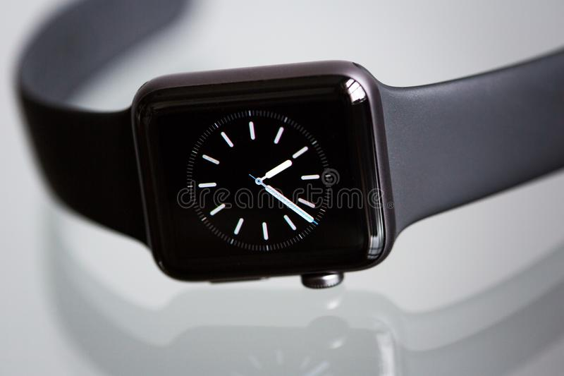 Analog watch in black and white royalty free stock images