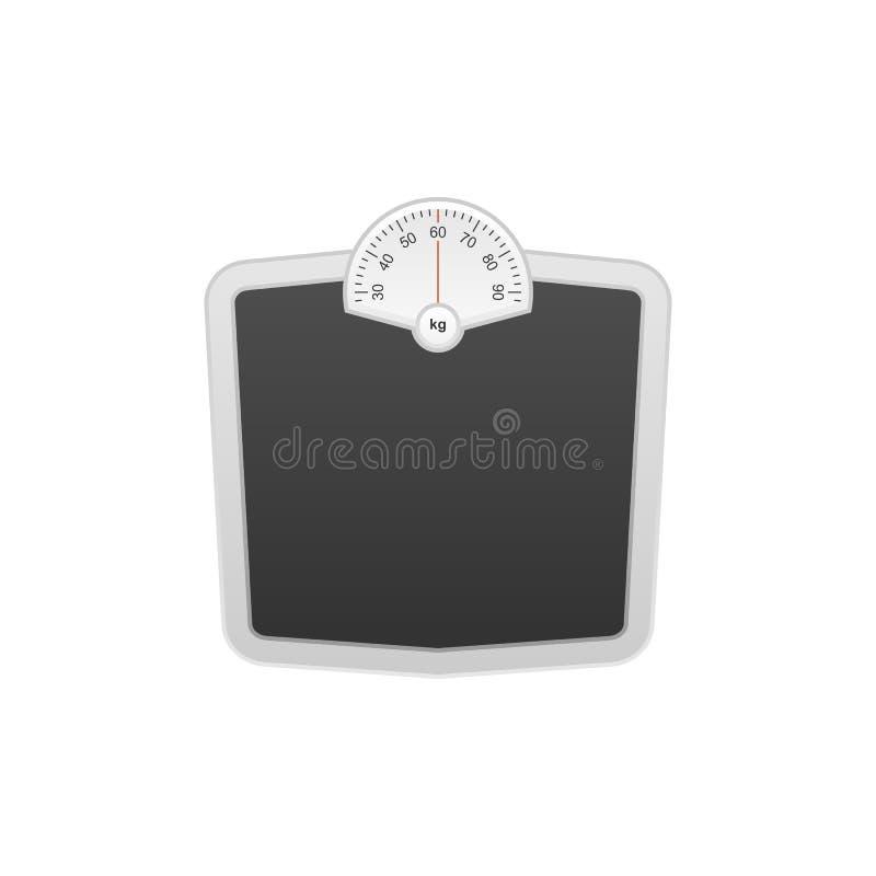 Weight scales  illustration. vector illustration