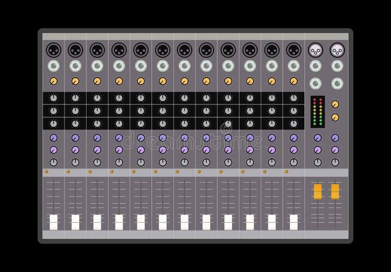 Analoge audiomixer vector illustratie