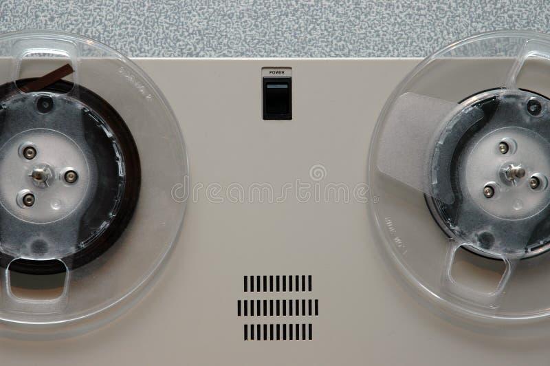 Analoge Bandmaschinennahaufnahme lizenzfreie stockbilder