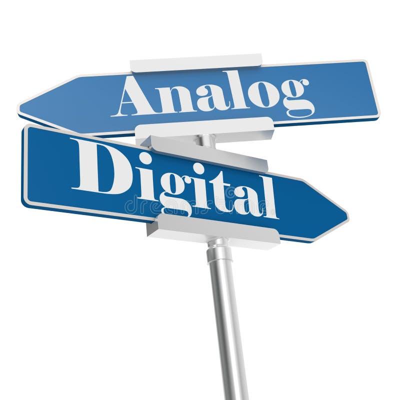 Analoge of Digitale tekens stock illustratie