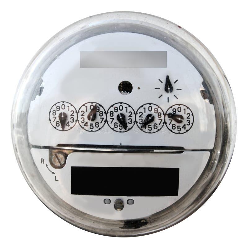 Analoge elektrische metervertoning om glasdekking royalty-vrije stock afbeeldingen
