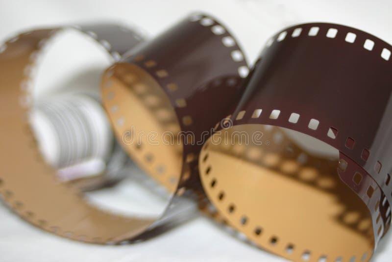 Analoge Film-Rollenfarbe stockbild