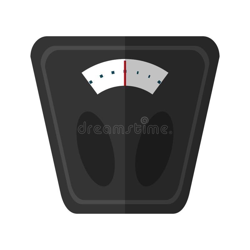 Analoge Gewichtsskalaeignung vektor abbildung