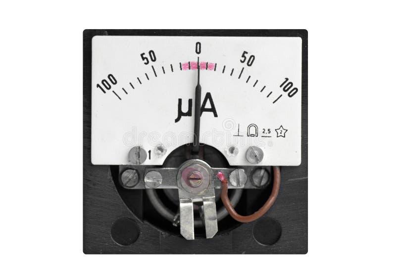 Analoge micro- ampèremeter stock afbeeldingen