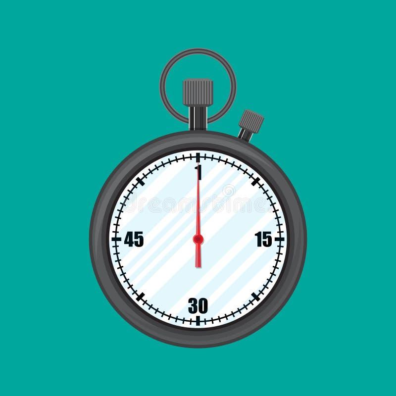 Analoger Chronometertimer-Zähler, Stoppuhr vektor abbildung