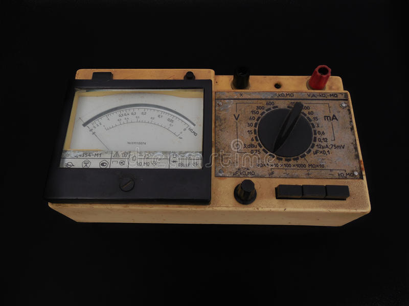 Analoges Multimeter lizenzfreies stockfoto