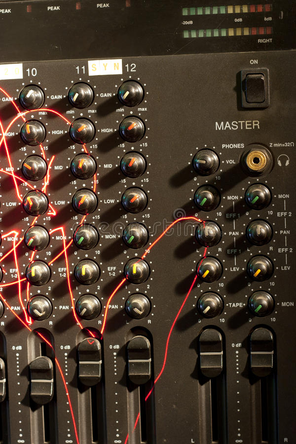 Free Analogical Audio Mixer From The Eighties Stock Photo - 18564240