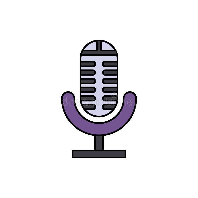 Analogico, audio, icona del microfono Elemento dell'icona dell'attrezzatura dello studio di musica di colore Icona premio di prog royalty illustrazione gratis