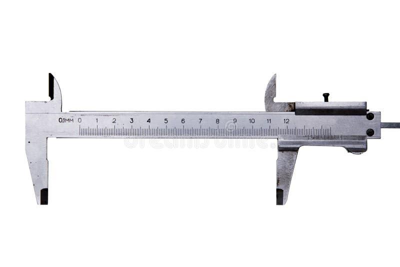 analogowego caliper odosobniony biel obrazy stock