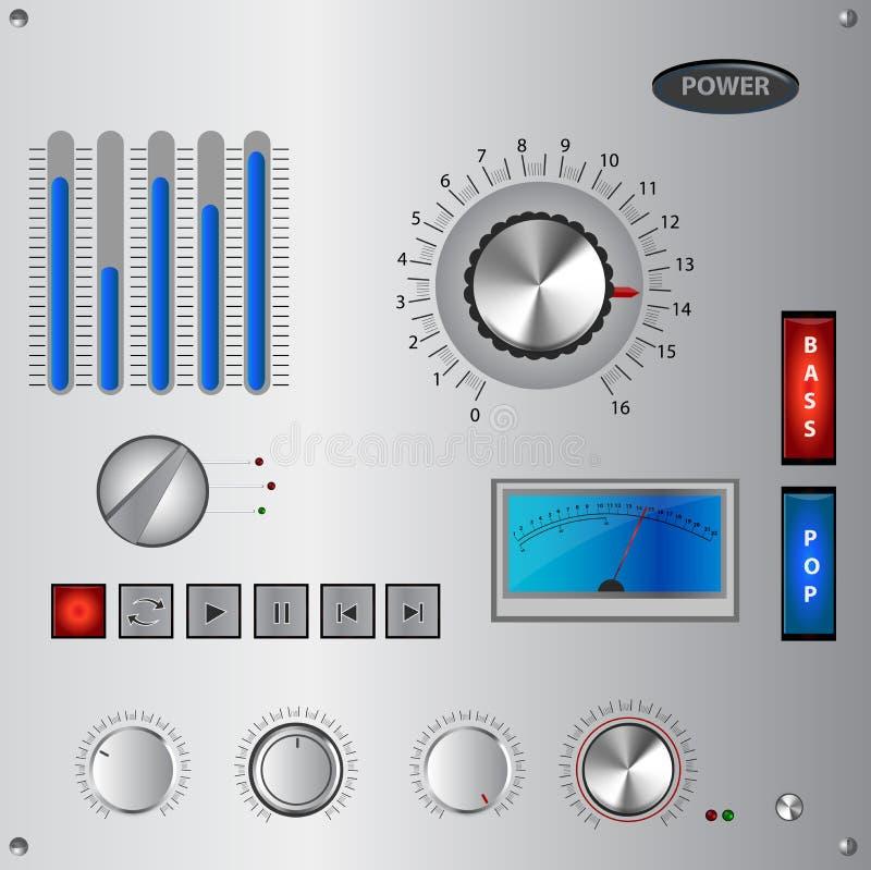 Analogowego kontrola interfejsu, elementu set i ilustracji