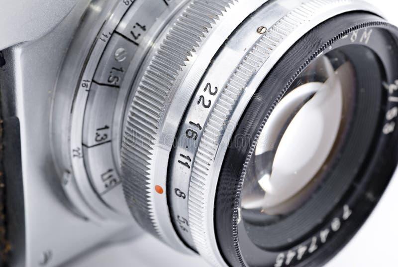 analogowy kamery szczegółu obiektyw retro fotografia royalty free