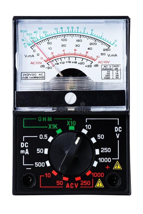 analogowy multimeter fotografia stock