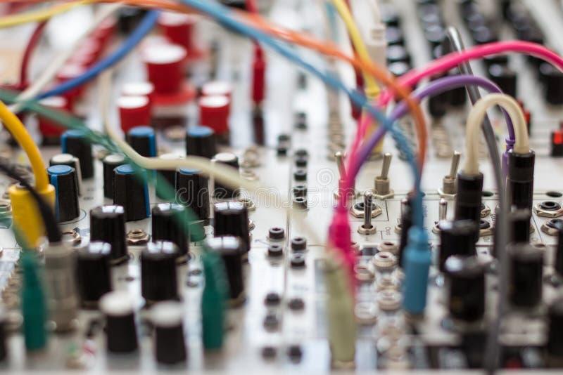 Analogowy syntetyk - modularny synth zdjęcia stock