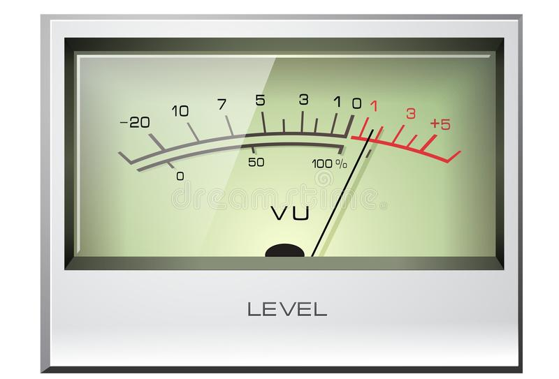 Analogsignal VU-Messinstrument stock abbildung