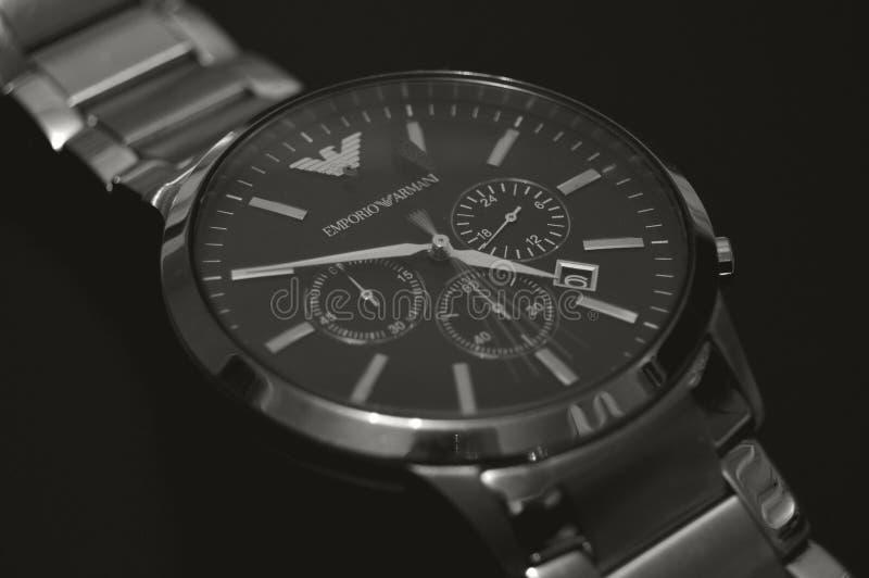 Analogue Armani Watch stock photo