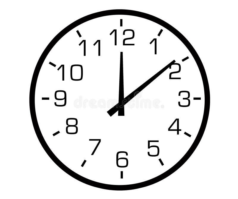 Analogue clock vector illustration