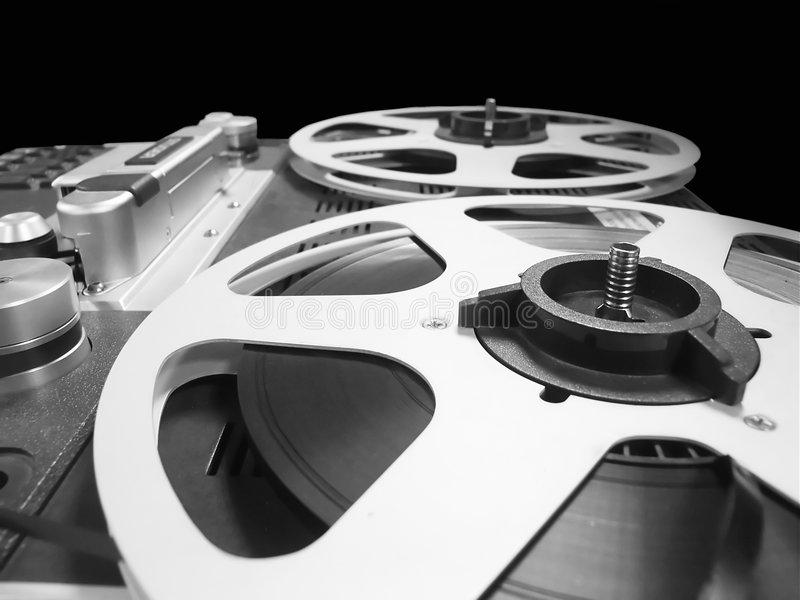 Analogue sound editing royalty free stock images