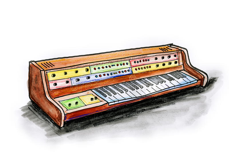 Analogue Synth Stock Image
